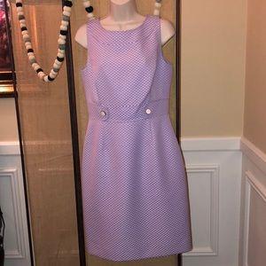 Tahari Lilac Purple Sheath Dress Size 6